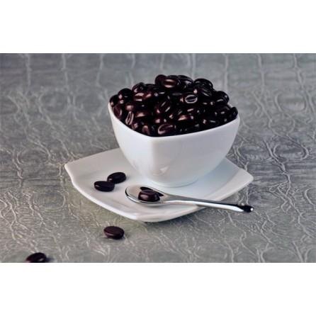 Grains de café chocolat noir