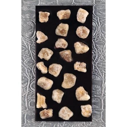 Tablette gingembre chocolat noir