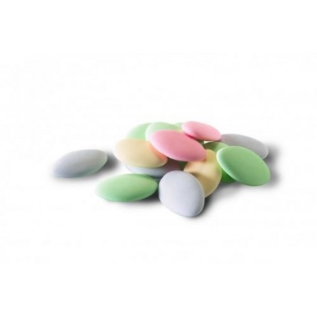 Dragées au chocolat noir 70% cacao couleurs pastel