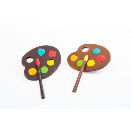 Palette de peinture chocolat