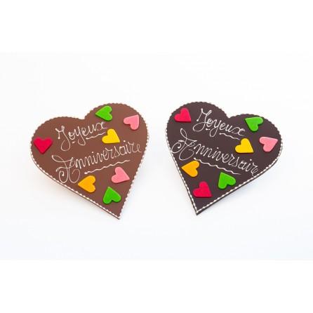 Cœur chocolat  joyeux anniversaire