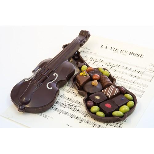 Violon en chocolat
