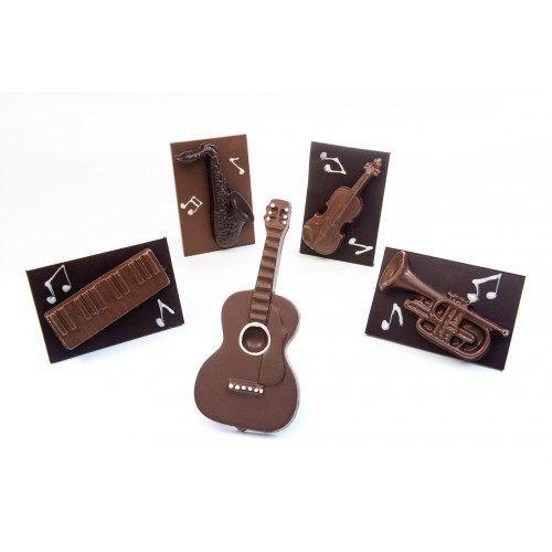 Instruments de musique en chocolat