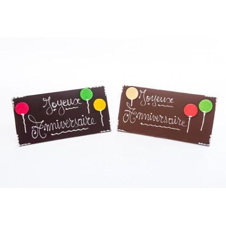 Plaque chocolat  joyeux anniversaire