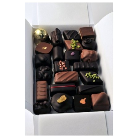 Coffret de chocolats fabrication artisanale