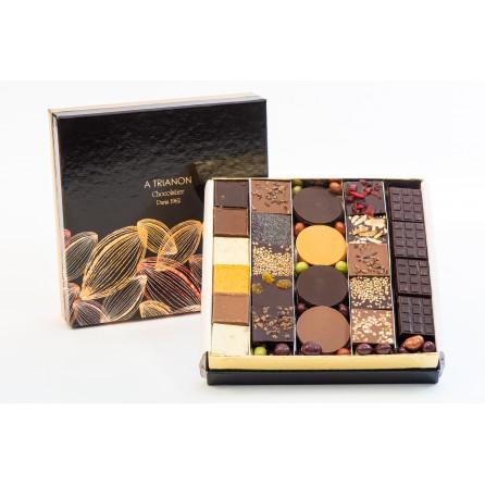 Coffret palets de chocolats assortis